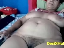 Indian Aunty Fingering Pusy alone in home