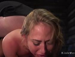 Bound slave gets dose of bdsm discipline