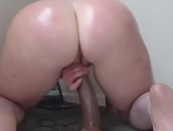 Sexy Milf Big Bubble Butt Riding Dildo
