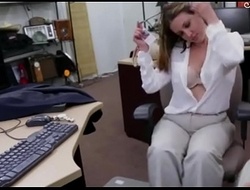 Foxy big boobs business lady pussy pounded #1