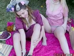 Busty australian lesbian