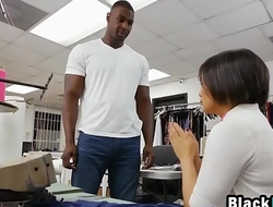 Young Asian Tailor Loses Mind While Getting Fucked By Muscled Black Stud