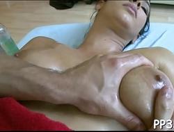 Pleasuring honey with oil massage