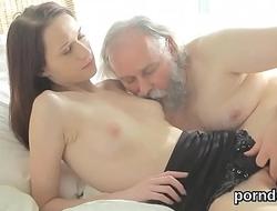 Fervent schoolgirl gets seduced and rode by her senior teacher