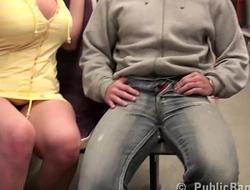 Big tits star Stella Fox  fucked hard in PUBLIC subway