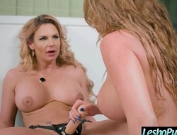 Lesbian Girls (Phoenix Marie &amp_ Richelle Ryan) Use Dildos To Punish Each Other mov-25