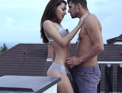 Alexis Brill fucks on the balcony