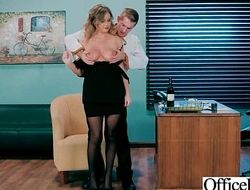 Office Girl (Alexis Adams) With Big Round Melon Tits Like Sex mov-02